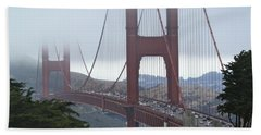 Foggy Golden Gate Hand Towel