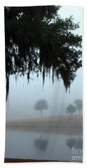 Foggy Morn Reflections Hand Towel
