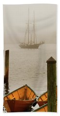 Foggy Morning In Gloucester Ma Hand Towel