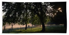 Hand Towel featuring the photograph Foggy Morning by Mark McReynolds
