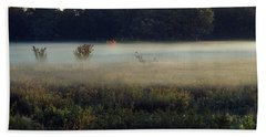 Foggy Morning Meadow Hand Towel