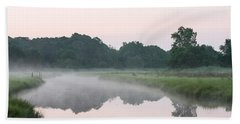 Foggy Morning Reflections Hand Towel