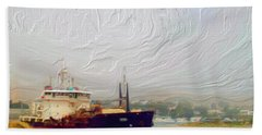 Foggy Morro Bay Hand Towel by Methune Hively