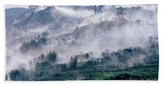 Foggy Mountain Of Sa Pa In Vietnam Hand Towel
