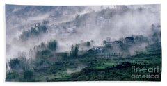 Foggy Mountain Of Sa Pa In Vietnam Bath Towel