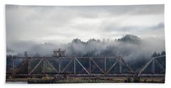 Foggy Rail Crossing Bath Towel
