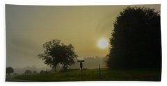 Foggy Sunrise Hand Towel