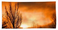 Hand Towel featuring the photograph Foggy Sunrise by Sumoflam Photography