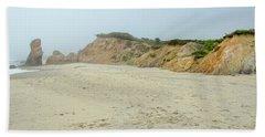 Foggy Vineyard Beach Hand Towel