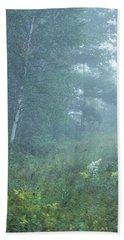 Foggy Wooded Meadow Bath Towel