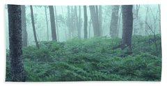 Foggy Woodland Bath Towel
