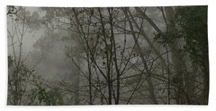 Foggy Woods Photo  Bath Towel by Gina O'Brien
