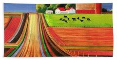 Folk Art Farm Hand Towel
