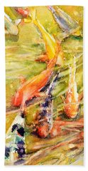 Follow The Leader Bath Towel by Judith Levins