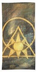 Follow The Light - Illuminati And Binary Hand Towel