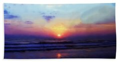 Folly Beach South Carolina Sunrise Hand Towel