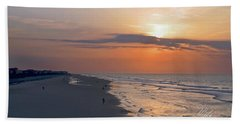 Folly Beach Sunrise Hand Towel by Meta Gatschenberger