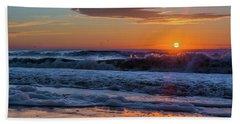 Folly Beach Sunrise Hand Towel by RC Pics