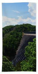 Hand Towel featuring the photograph Fontana Dam by Cathy Harper
