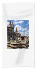 Hand Towel featuring the photograph Fontana Del Moro.rome by Jennie Breeze