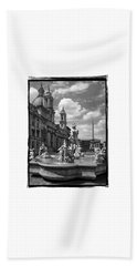 Hand Towel featuring the photograph Fontana Del Moro.rome.italy by Jennie Breeze