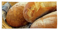 Bath Towel featuring the photograph Food - Bread - Just Loafing Around by Mike Savad