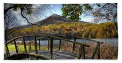 Foot Bridge Hand Towel by Todd Hostetter