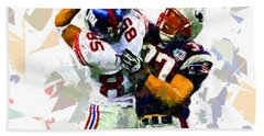 Bath Towel featuring the painting Football 116 by Movie Poster Prints