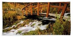 Footbridge At Cascade Springs Hand Towel