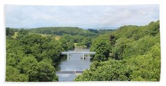 Footbridge Over The River Tees Bath Towel