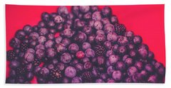 For The Love Of Berries Hand Towel by Stefanie Silva