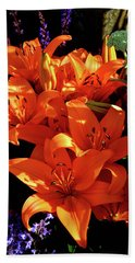 Hand Towel featuring the photograph For The Love Of Lilies by Kathy Kelly