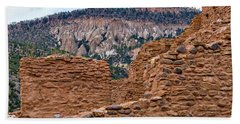 Hand Towel featuring the photograph Forbidding Cliffs by Alan Toepfer