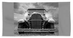 Ford Coupe Head On In Black And White Hand Towel