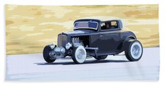 Ford Coupe Racing Bath Towel