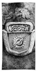 Ford Emblem On A Rusted Hood Verticle Bath Towel