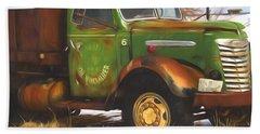 Ford Farm Truck Painterly Impressions Bath Towel