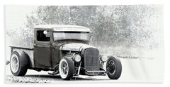 Ford Hot Rod Hand Towel by Athena Mckinzie