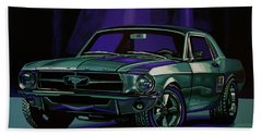 Ford Mustang 1967 Painting Hand Towel