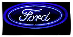 Ford Neon Sign Hand Towel