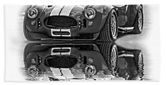 Ford/shelby Ac Cobra - Reflection Bw Bath Towel