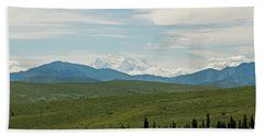 Foreground And Mountain Bath Towel