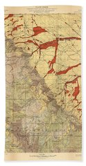 Forest Cover Map 1886-87 - Dayton Quadrangle - Wyoming - Geological Map Bath Towel