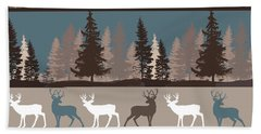 Forest Deer Lodge Plaid II Bath Towel