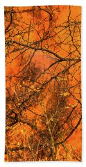 Forest Fire Bath Towel