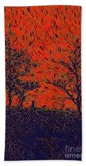 Forest Fire By Sarah Kirk Bath Towel