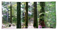 Bath Towel featuring the photograph Forest Giants by Sadie Reneau