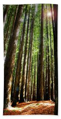 Forest Glade Bath Towel by Marion Cullen