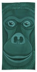Forest Green Orangutan Hand Towel