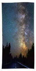 Bath Towel featuring the photograph Forest Highway Light by James BO Insogna